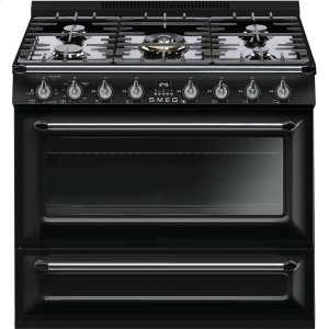 "SmegFree-standing All-Gas ""Victoria"" Range 36"" - Glossy black"