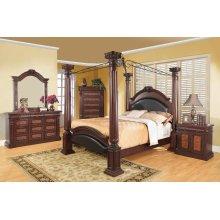Grand Prado Cappuccino King Four-piece Bedroom Set