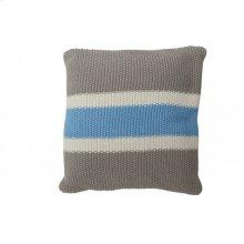 Pillow 50x50 cm TRICOLORE grey-blue