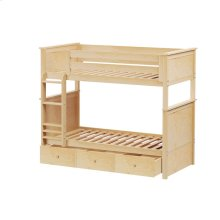 Twin/Twin Bunk   Trundle Storage Natural