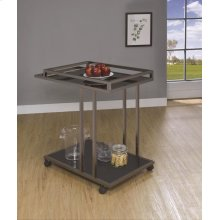 Modern Black Nickel Serving Cart