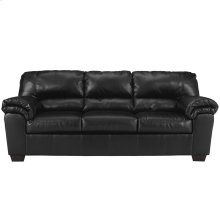 Signature Design by Ashley Commando Sofa in Black Leather [FSD-2129SO-BLK-GG]