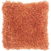 """Shag Dl660 Deep Coral 1'5"""" X 1'5"""" Throw Pillows"""