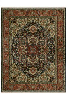 Maharajah Navy Rectangle 5ft 9in x 9ft