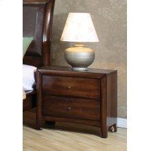 Hillary Light Coffee Two-drawer Nightstand