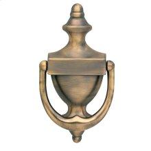 Satin Brass and Black Colonial Knocker