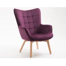 Emerald Home Margo Accent Chair Aubergine U3328-05-00