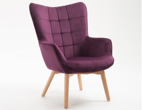 Emerald Home Margo Accent Chair Aubergine U3328-05-00