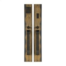 Solid Bronze Amalfi Thumblatch-Lever Mortise Entry Set