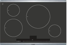 "30"" Induction Cooktop with Touch Control 500 Series - Black with Stainless Steel Strips NIT5065UC"
