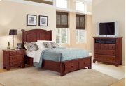 Panel Bed with Storage Footboard Option Product Image