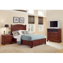 VAUGHAN BASSETT BB5-558-050B-502-555T Hamilton Franklin Collection Queen Panel Bed with Storage Footboard