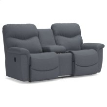 James Reclining Loveseat w/ Console