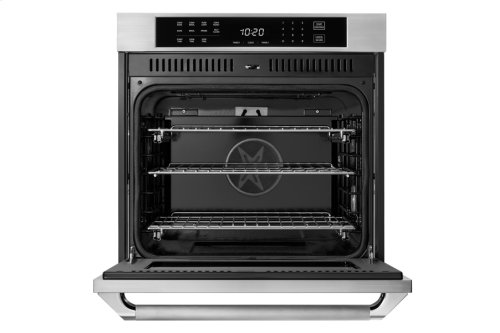 """Heritage 27"""" Single Wall Oven, Silver Stainless Steel, Epicure Style handle"""