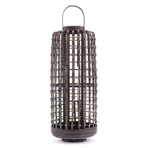 Bamboo Lantern Lg Gray