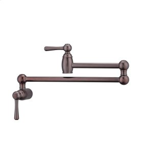 Dai Dual Handle Wall Mount Pot Filler - Oil Rubbed Bronze