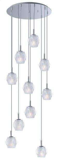 Tangent LED 10-Light Pendant