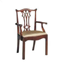 CARVED MAHOGANY CHIPPENDALE ARMCHAIR
