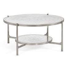 glomise Glass Silver Coffee Table