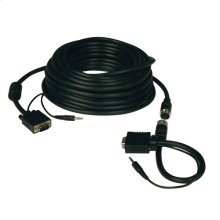High Resolution SVGA/VGA Monitor Easy Pull Cable with Audio and RGB Coax (HD15 M/M), 100-ft.
