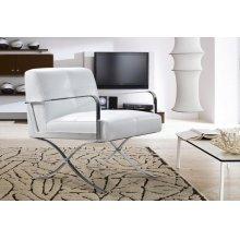 Divani Casa Delano Modern White Leather Lounge Chair