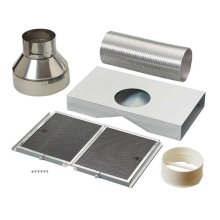 Non-duct kit for Gorgona WPB9 Chimney Range Hoods. Includes charcoal filters and diverter