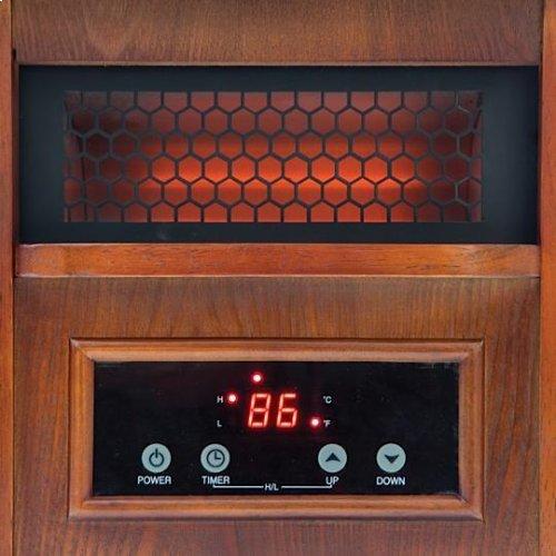 Snow Joe SJQH1500-DO Glo Infrared Quartz Heater  1500 Watt  4 Quartz  Digital Thermostat  Timer