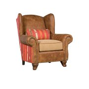 Corona Leather Fabric Chair, Corona Ottoman Product Image