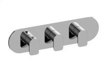 Sento M-Series Valve Horizontal Trim with Three Handles