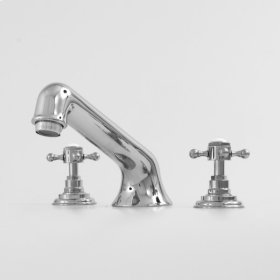 1500 Series Roman Tub Set with Sussex Handle (available as trim only P/N: 1.157877T)