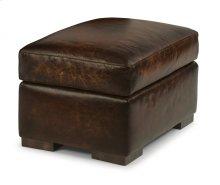 Prescott Leather Ottoman