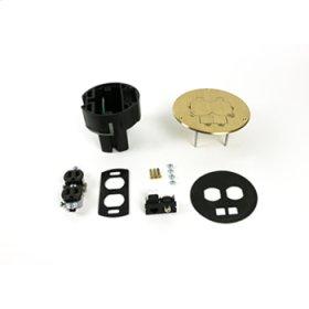 863DPCOM Series Dual Service Floor Box Kit
