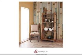 Bookcase w/4 fixed wood storage shelves