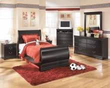 Huey Vineyard - Black 7 Piece Bedroom Set (Full Size)