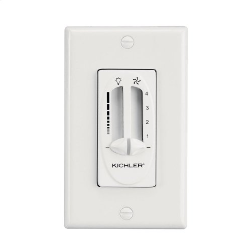 Dual Slide Control Fan and Light White