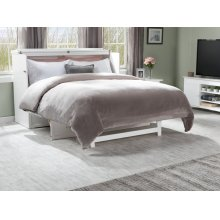 Deerfield Murphy Bed Chest Queen White with Charging Station