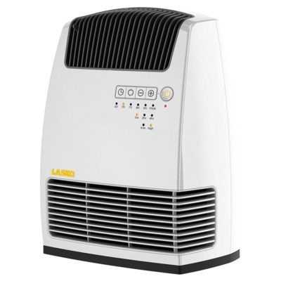 Electronic Fan-Forced Heater with Warm Air Motion Technology - White