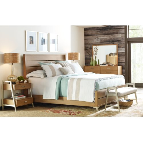 Hygge by Rachael Ray Complete Ladder Back Bed, CA King 6/0