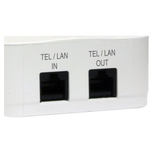 2 Outlet Direct Plug-In Surge Protector with Tel/Lan -