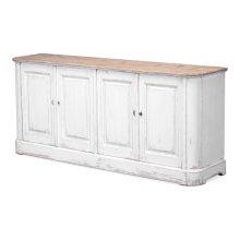 Antique White Wash Sideboard, 4 Door