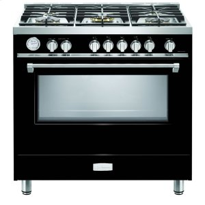 "VeronaGloss Black 36"" Designer Gas Range"