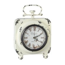 Distressed Ivory Desk Clock