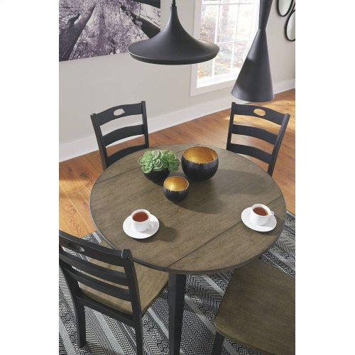 D338-15/01  Round Drop Leaf Table with 2 Chairs (other chairs available)