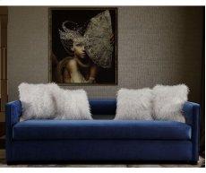 Kennedy Navy Velvet Sofa Product Image