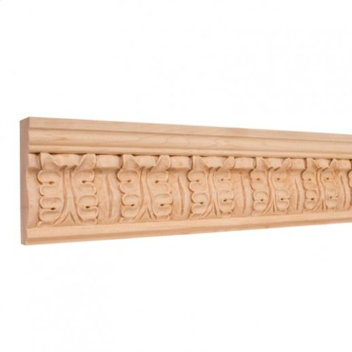 """3-3/4"""" x 1"""" Hand Carved Frieze Moulding Species: Alder Priced by the linear foot and sold in 8' sticks in cartons of 80'."""