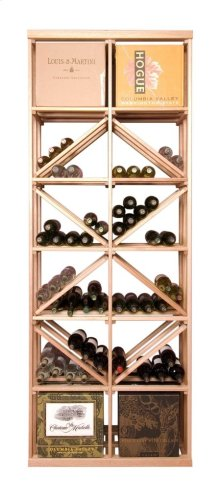 Apex 7' Case & Diamond Bin Modular Wine Rack