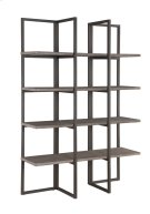 "Emerald Home Atari Bookshelf 48"" Metal Frame Antique Grey Shelves Ac390-48 Product Image"