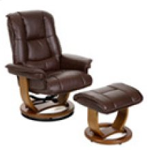 R-116 Pluto Coffee Leather Recliner
