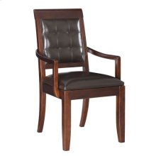 Tribecca Upholstered Leather Arm Chair-Kd
