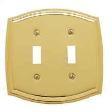 Polished Brass Colonial Double Toggle
